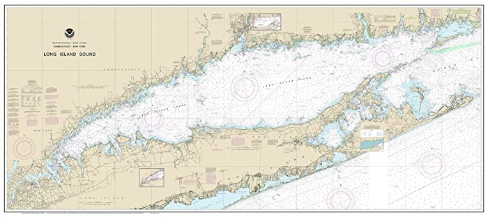 Map Of New York And Long Island.Long Island Sound 2017 Nautical Map Connecticut New York Custom Print 80000 At
