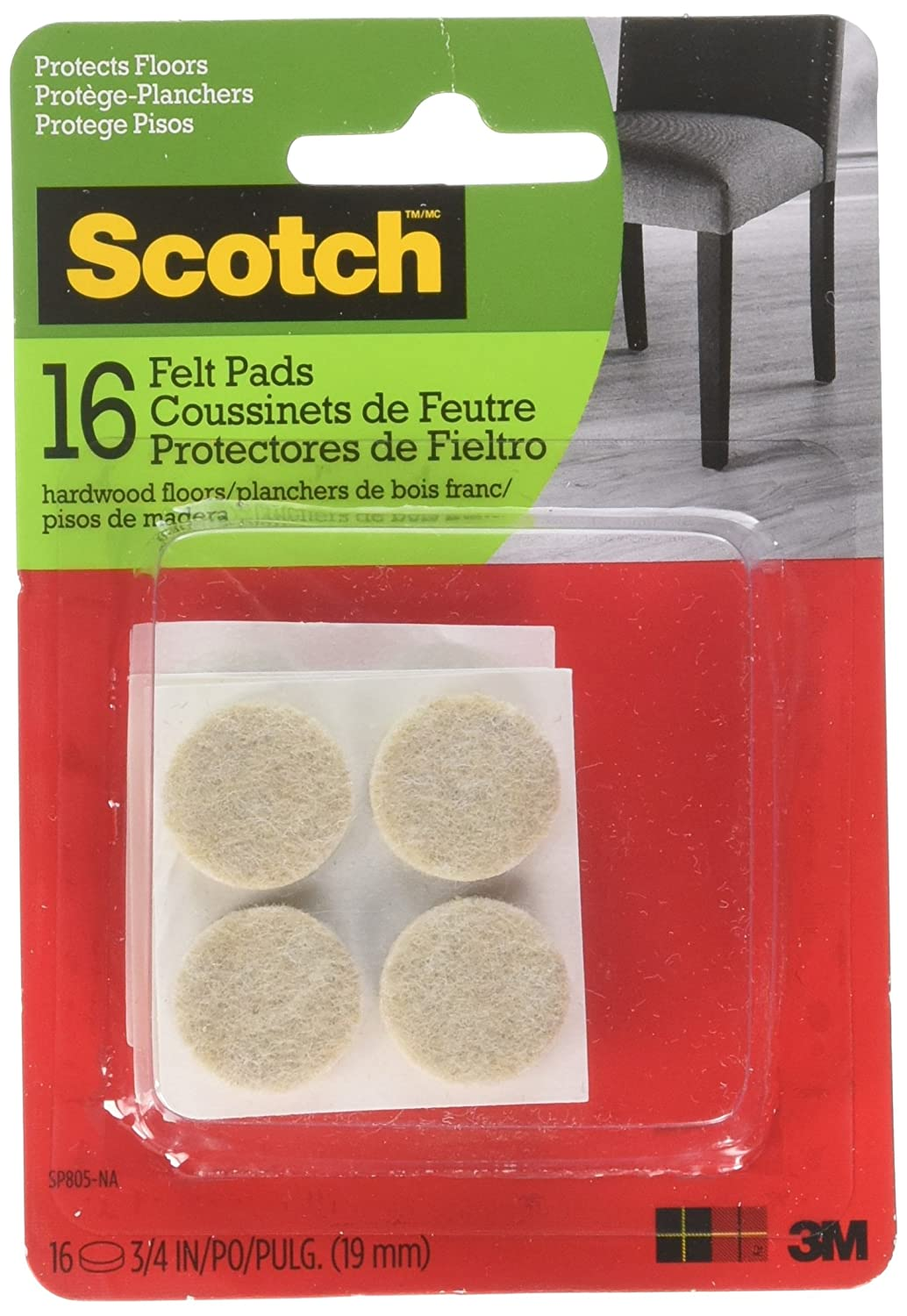 3M Company SP805-Nascotch Felt Pads3M Company SP805-NA Provides Protection from Scratches