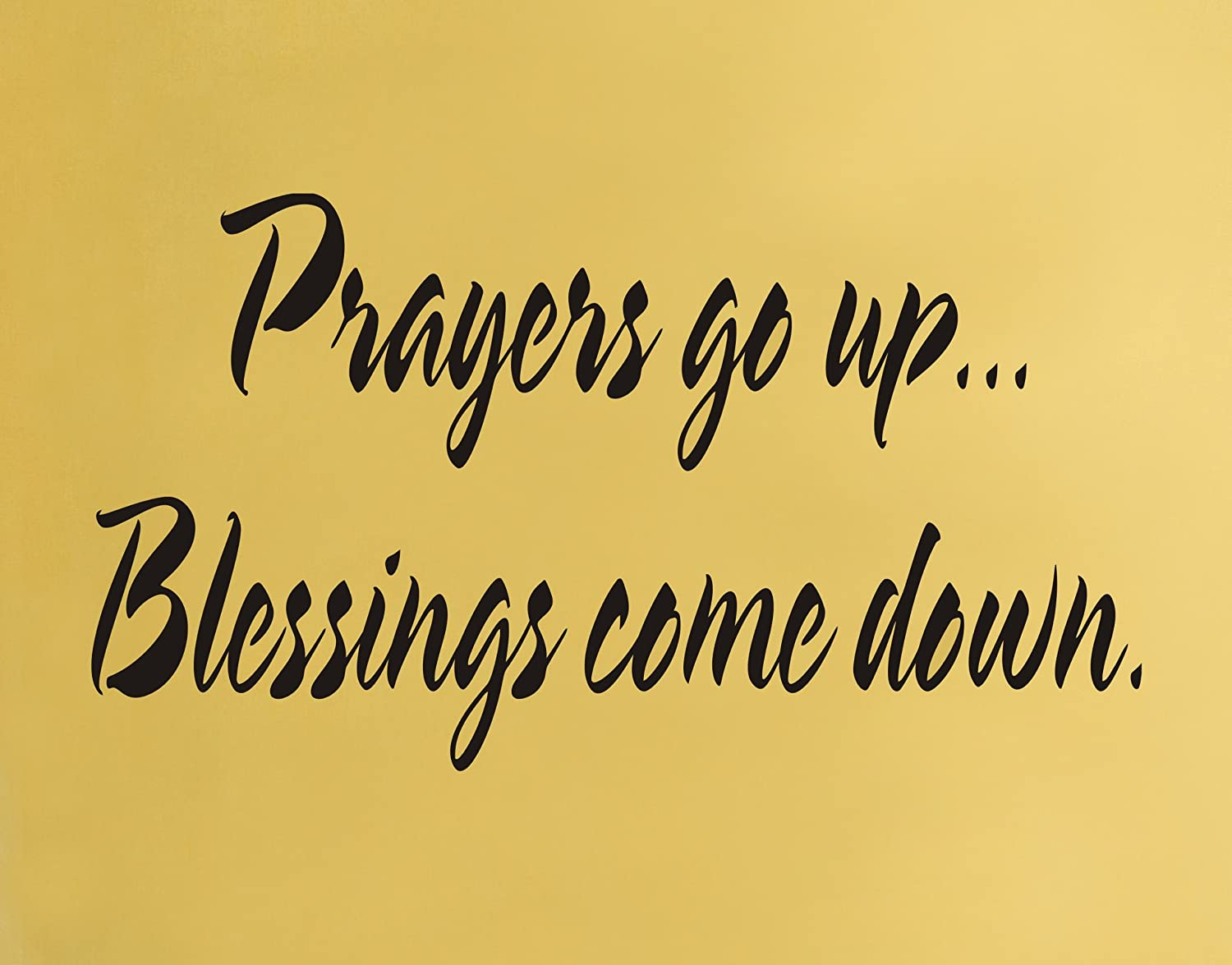 Amazon.com: Prayers go up... Blessings come down religious wall ...
