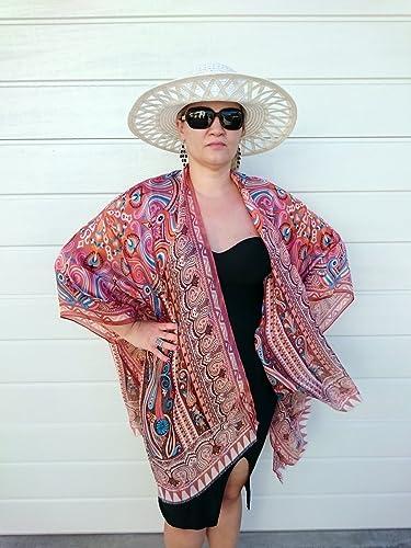 Amazoncom Paisley Silk Kimono Bathing Suit Cover Up Bridesmaid