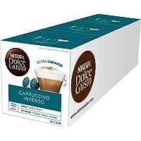 NESCAFÉ Nescafe Dolce Gusto Cappuccino Intenso Coffee with Milk, Coffee, Coffee, 32 Capsules (16 Servings)