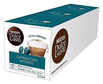 NESCAFÉ Dolce Gusto Cappuccino Intenso | 48 Kaffeekapseln | Arabica und Robusta Bohnen | Intensiver Kaffeegenuss mit lockerem