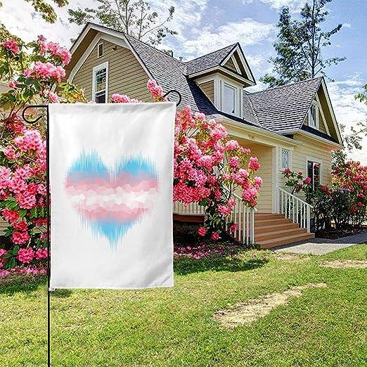 Minize Transgénero Transsexual Trans Corazón Orgullo Flagthemed Bienvenido Fiesta Exterior Decoraciones Decoraciones Ornamento Picks Casa Jardín Jardín Patio Decoración Doble Cara 12.5 X 18 Bandera pequeña: Amazon.es: Jardín