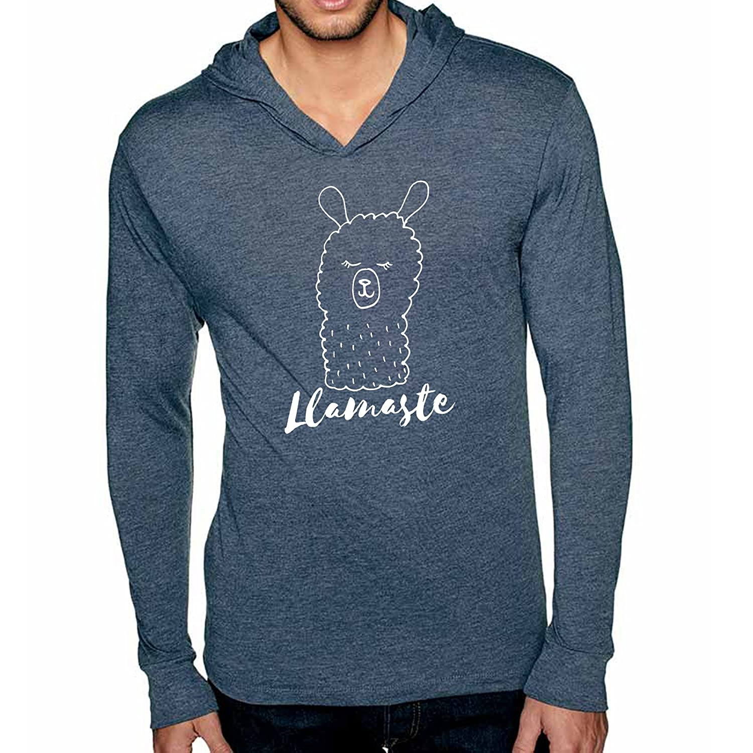 Llamaste Long Sleeve Unisex Hoodie, Unisex Graphic Hoodie, Screen Printed, Indigo