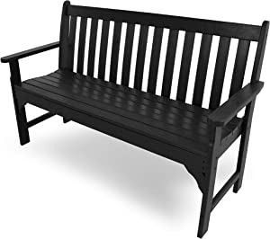 "POLYWOOD GNB60BL Vineyard 60"" Bench, Black"