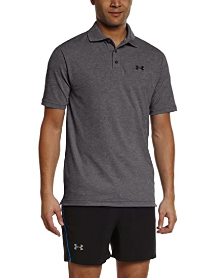 Under Armour Men's Performance Polo, Carbon Heather (090)/Black, XX-. Roll  over image to ...