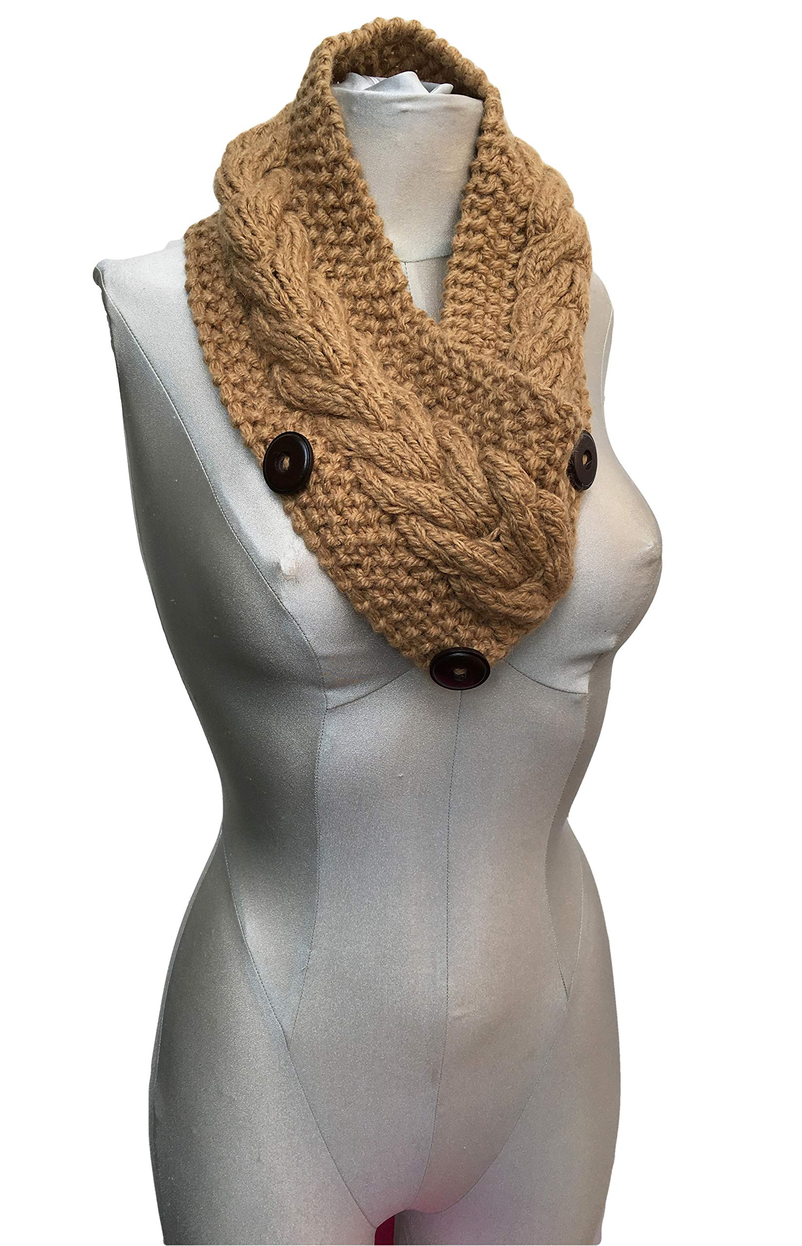 CUSTOM MADE - Alpaca and Wool Coziest Neckwarmer Ever (Knitted by Hand) (Strawberry Red)