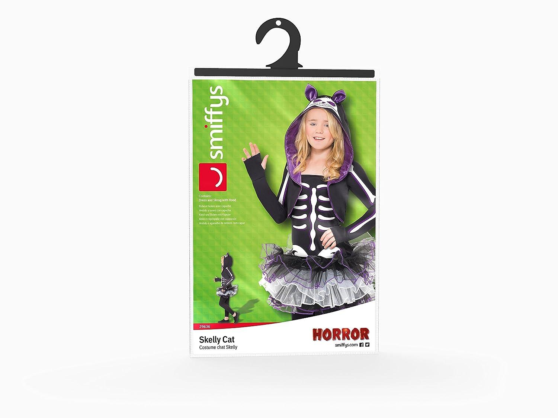 29636T de Smiffy - Disfraz Gato Esqueleto con capucha vestido de bolero y cuello, negro: Amazon.es: Juguetes y juegos
