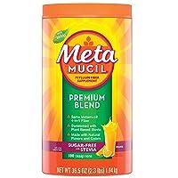 Metamucil Premium Blend Fiber, 180 Servings, Psyllium Husk Fiber Powder Supplement...