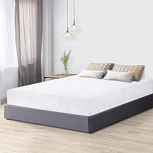 PrimaSleep 8 Inch Premium Cool Gel Multi Layered Memory Foam Bed Mattress, Queen