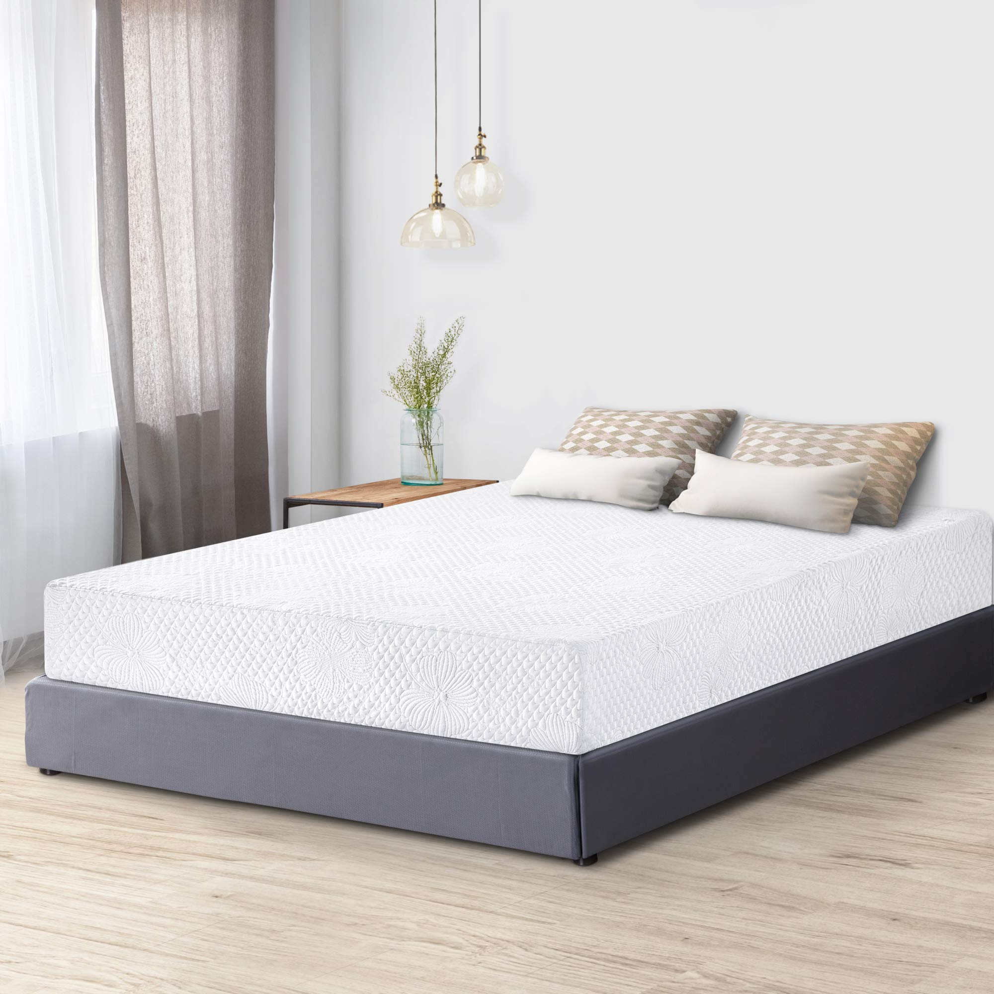 PrimaSleep Premium Cool Gel Multi Layered Memory Foam Bed Mattress, Full, 8 Inch