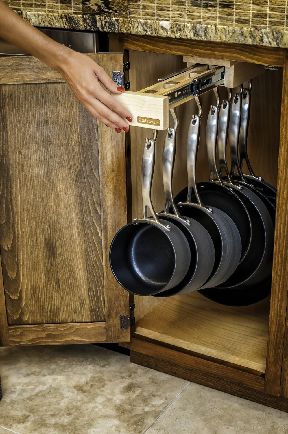 Beau Amazon.com: Glideware Pull Out Cabinet Organizer For Pots And Pans: Cell  Phones U0026 Accessories