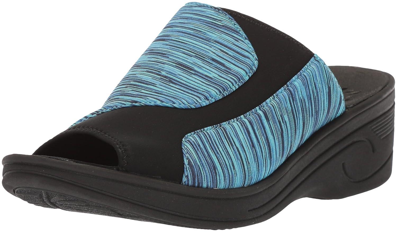 huge selection of 03230 ccc82 Easy Street Women s Slight Wedge B077ZKVRFX 8 8 8 M US Blue Stripe Neoprene  ecfcfd