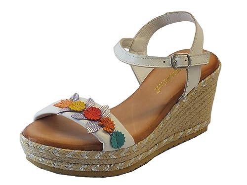 c0867547 Mercante di Fiori 9396 Bianco - Sandalias de vestir de Piel para mujer  blanco Size: 36: Amazon.es: Zapatos y complementos