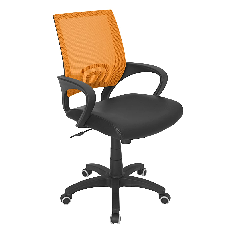 amazon com lumisource officer chair tangerine kitchen dining