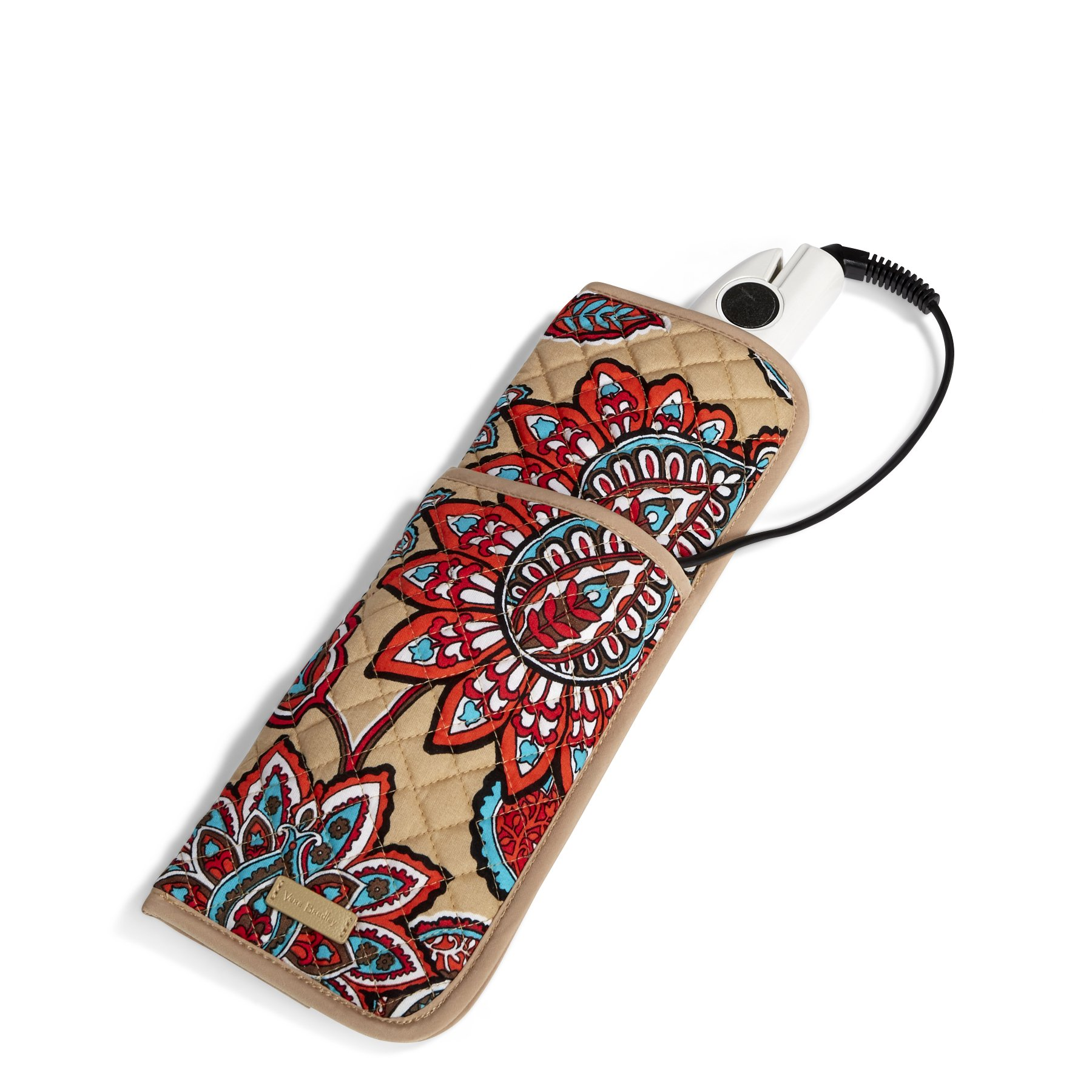 Vera Bradley Iconic Curling and Flat Iron Cover, Signature Cotton, Desert Floral +. Power