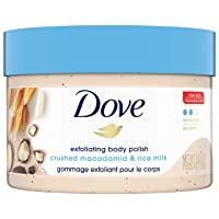 Dove Exfoliating Body Polish Body Scrub To Help Revive Dry, Dull Skin Macadamia...