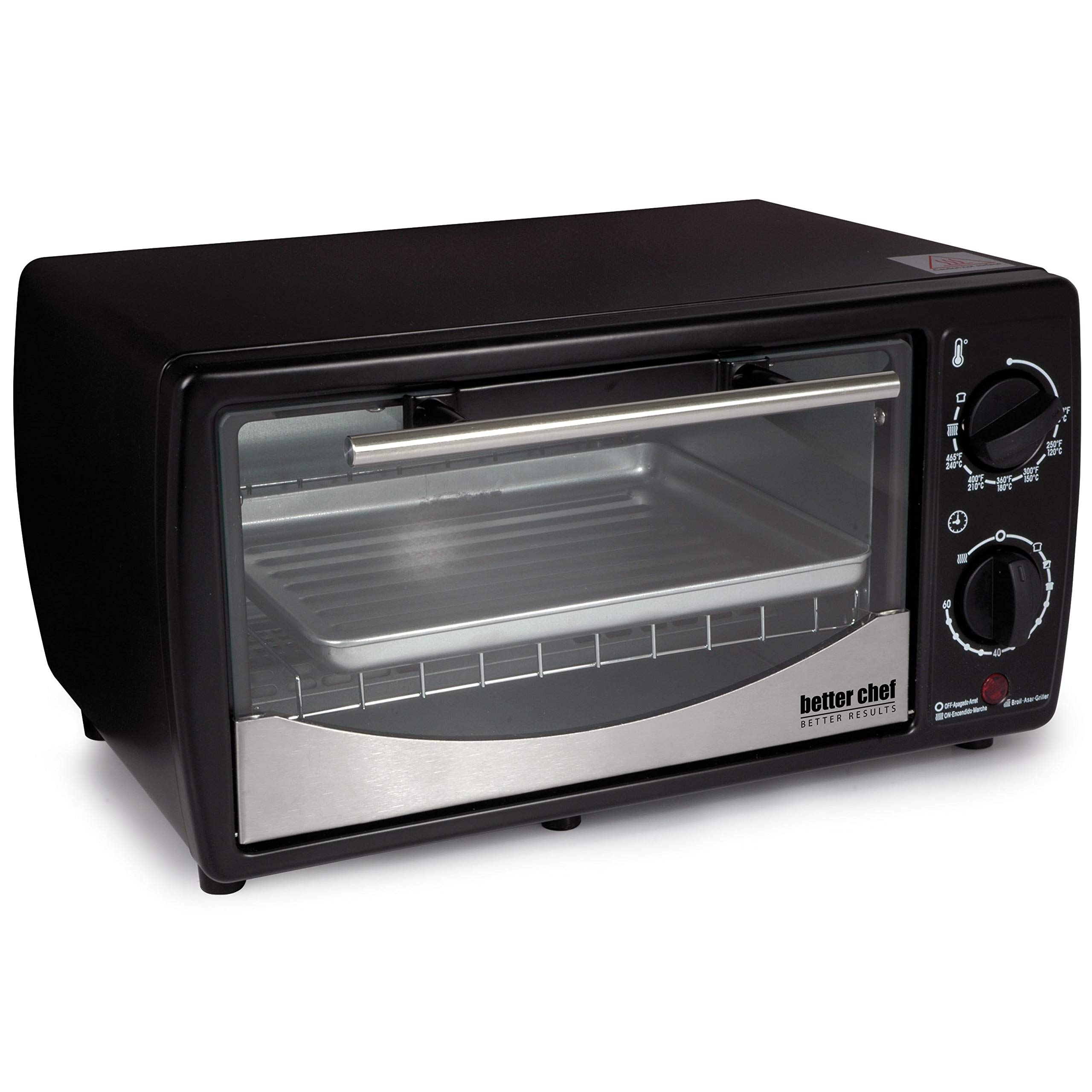 Better Chef 9 Liter Toaster Oven Broiler Red by Better Chef (Image #3)