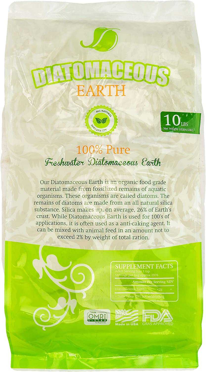 Absorbent Industries AI-10066 Diatomaceous Earth Food Grade, 10 lb, Wh, White