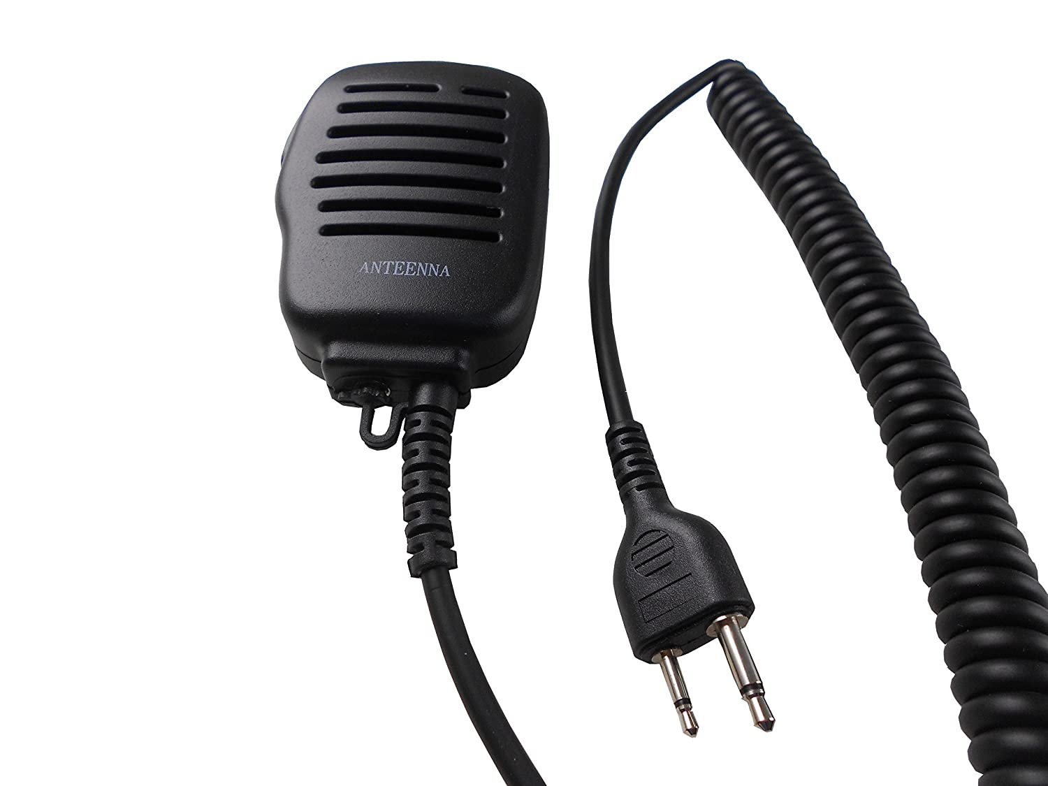 Chiko Communication Only Listen Anteenna TW-52SS Remot Speaker Mic With Metal Clip For Two Way Radio For Icom Maxon Yaesu Vertex Radio 2 Pin Heavy Duty Speaker Microphone 1 Pc Free For Ear Phone Only