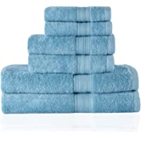 Trends Alley Bourgeois – Luxury, 100% Combed Cotton Towel Set (6 Pieces, 4 Colours), 600 GSM, Includes 2 Face Towels, 2…