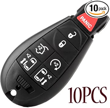 10PCS Replacement 5 Buttons Key Shell for Chrysler