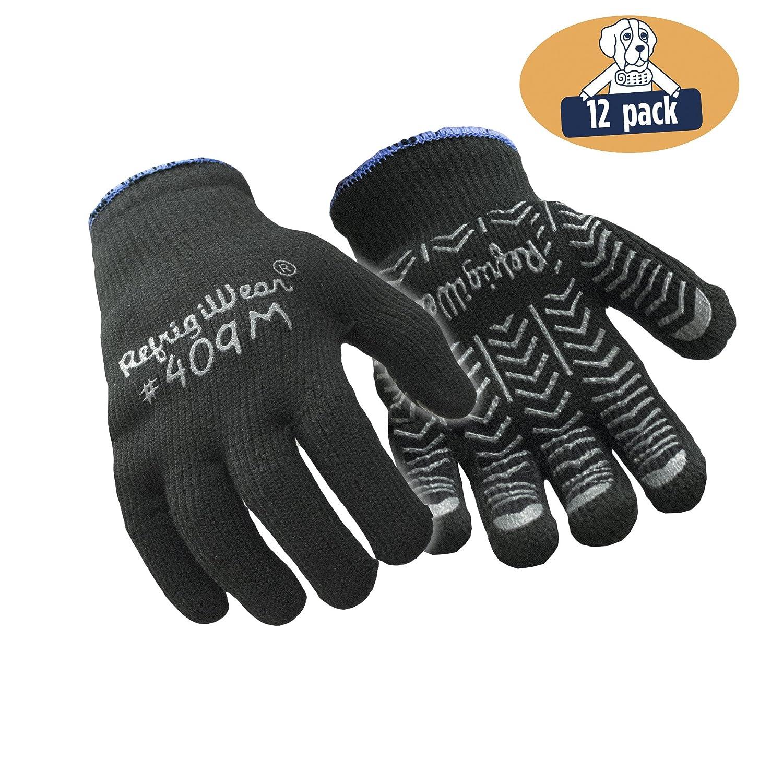 RefrigiWearヘリンボーングリップ手袋、12のパック B00RVY9LL2  M