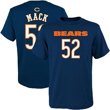 super popular 18bea 6969b Outerstuff Khalil Mack Chicago Bears NFL Apparel Youth 8-20 Navy Mainliner  Player Name & Number T-Shirt
