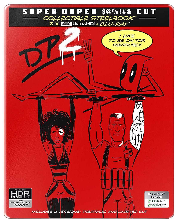 51658415e1b Amazon.in  Buy Deadpool 2 + Super Duper Cut (Unrated) (Steelbook) (4K UHD    HD) (3-Disc) DVD