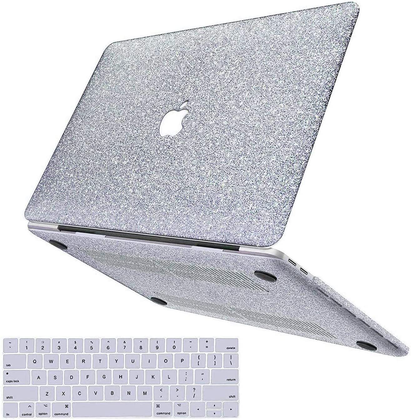 MacBook Pro 13 inch Case 2020 2019 2018 2017 2016 Release A2251/A2289/A2159/A1989/A1706/A1708, Anban Glitter Bling Smooth Shell Slim Snap On Case with Keyboard Cover for Pro 13 with Touch Bar/Touch ID