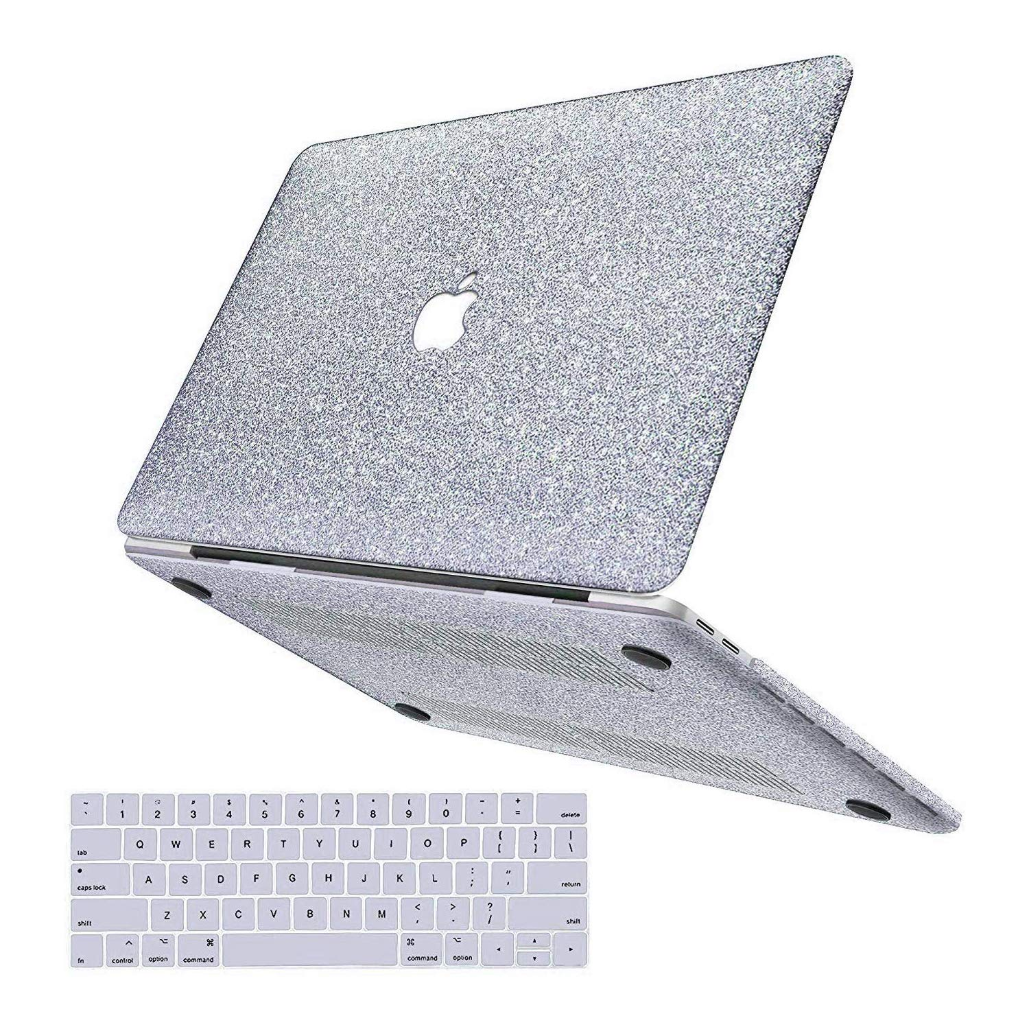 MacBook Pro 13 Case 2019 2018 2017 2016 Release A2159/A1989/A1706/A1708,Anban Glitter Bling Smooth Shell Slim Snap On Case with Keyboard Cover ...