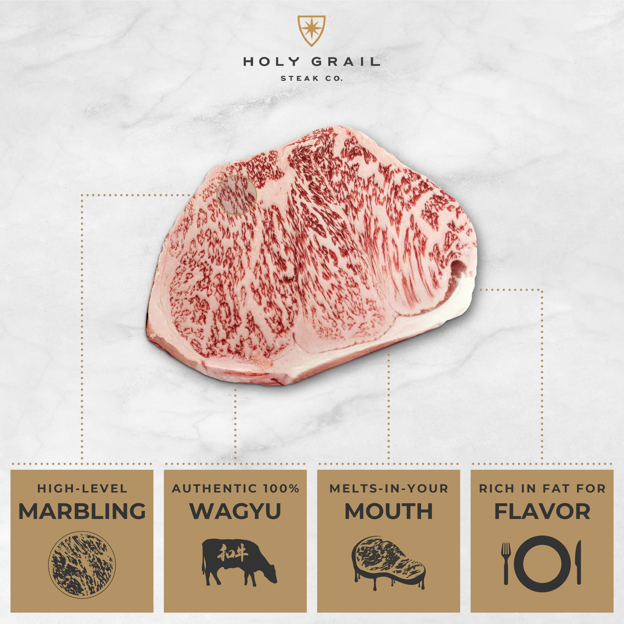 Holy Grail Steak Company, A5 Grade, Genuine Kobe Ribeye, Japanese Wagyu Beef (13-15 oz.) by Holy Grail Steak Company (Image #7)