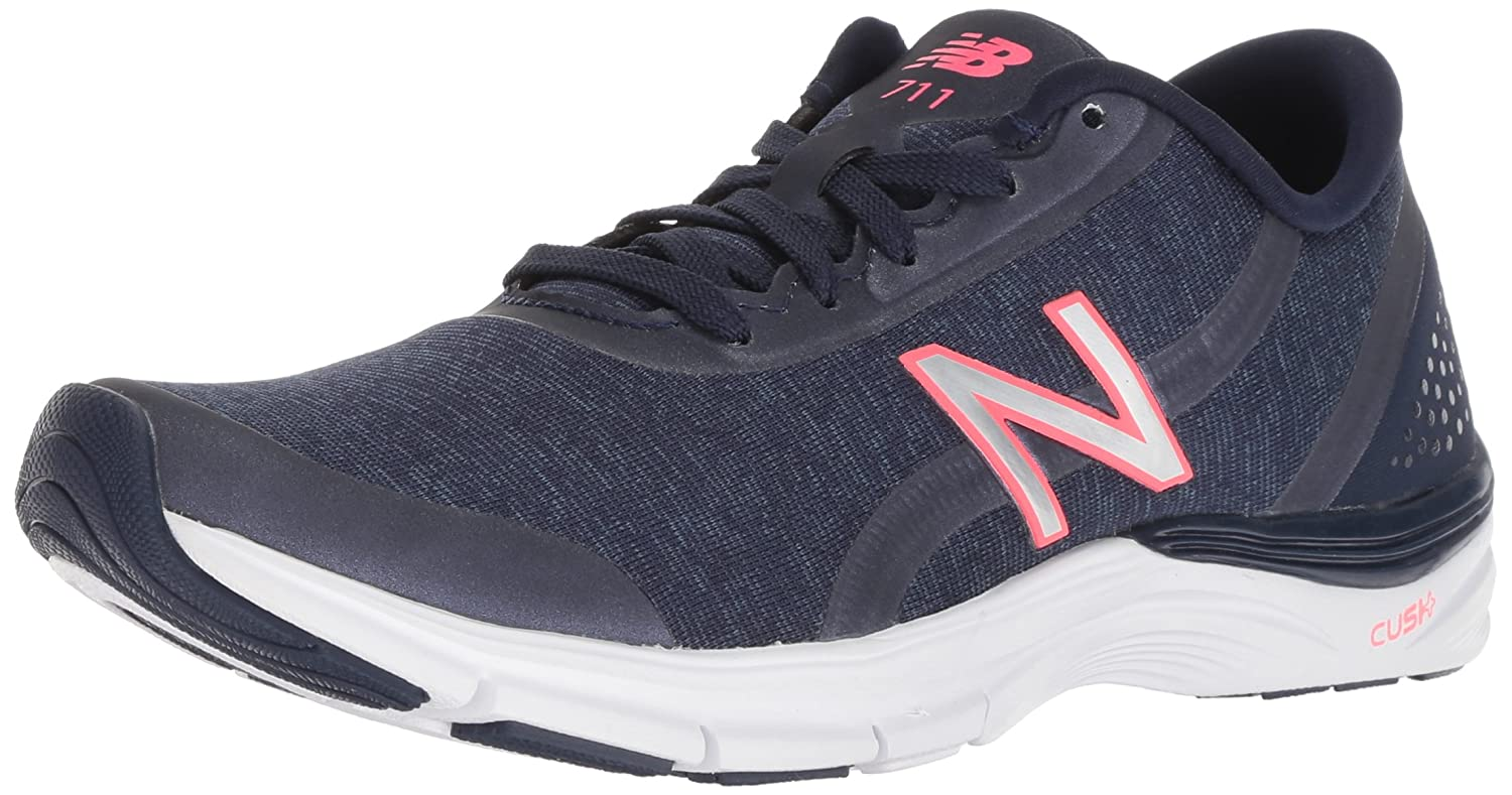 New Balance Women's 711v3 Cush + Cross Trainer B075R7QGDX 8 M US|Navy