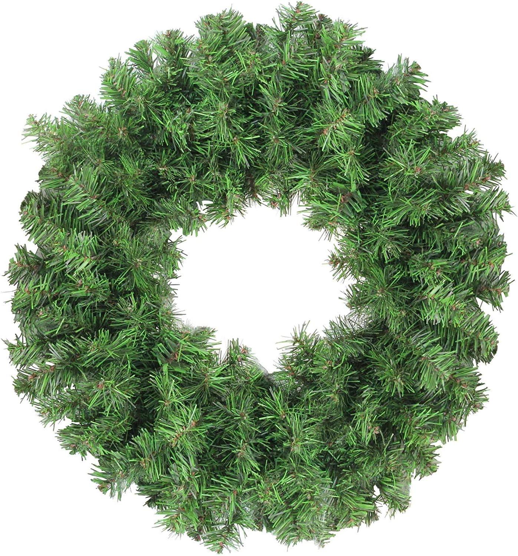 JUCK Colorado Spruce 2-Tone Artificial Wreath, for Front Door Wall Window Decoration, Green