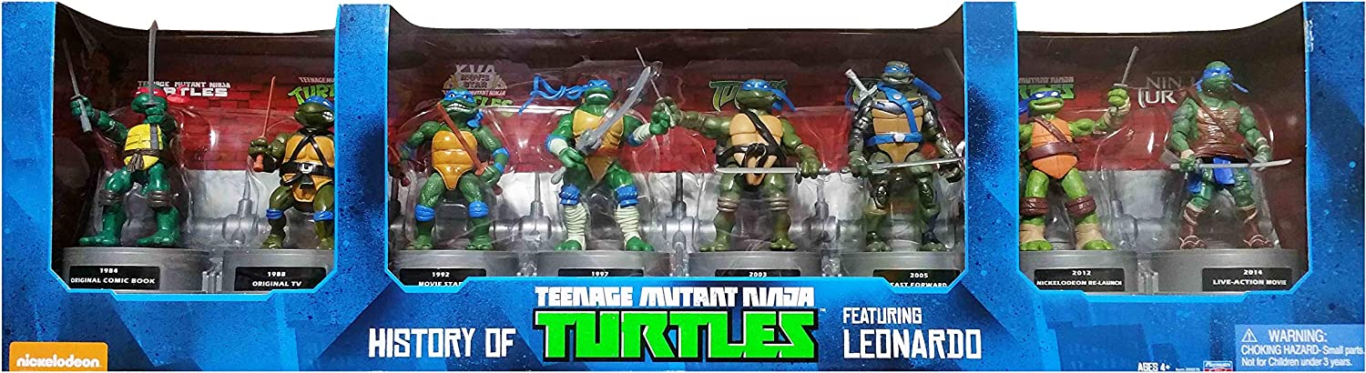 Teenage Mutant Ninja Turtles Leonardo Exclusive Figures 3 Pack NEW TMNT 1984