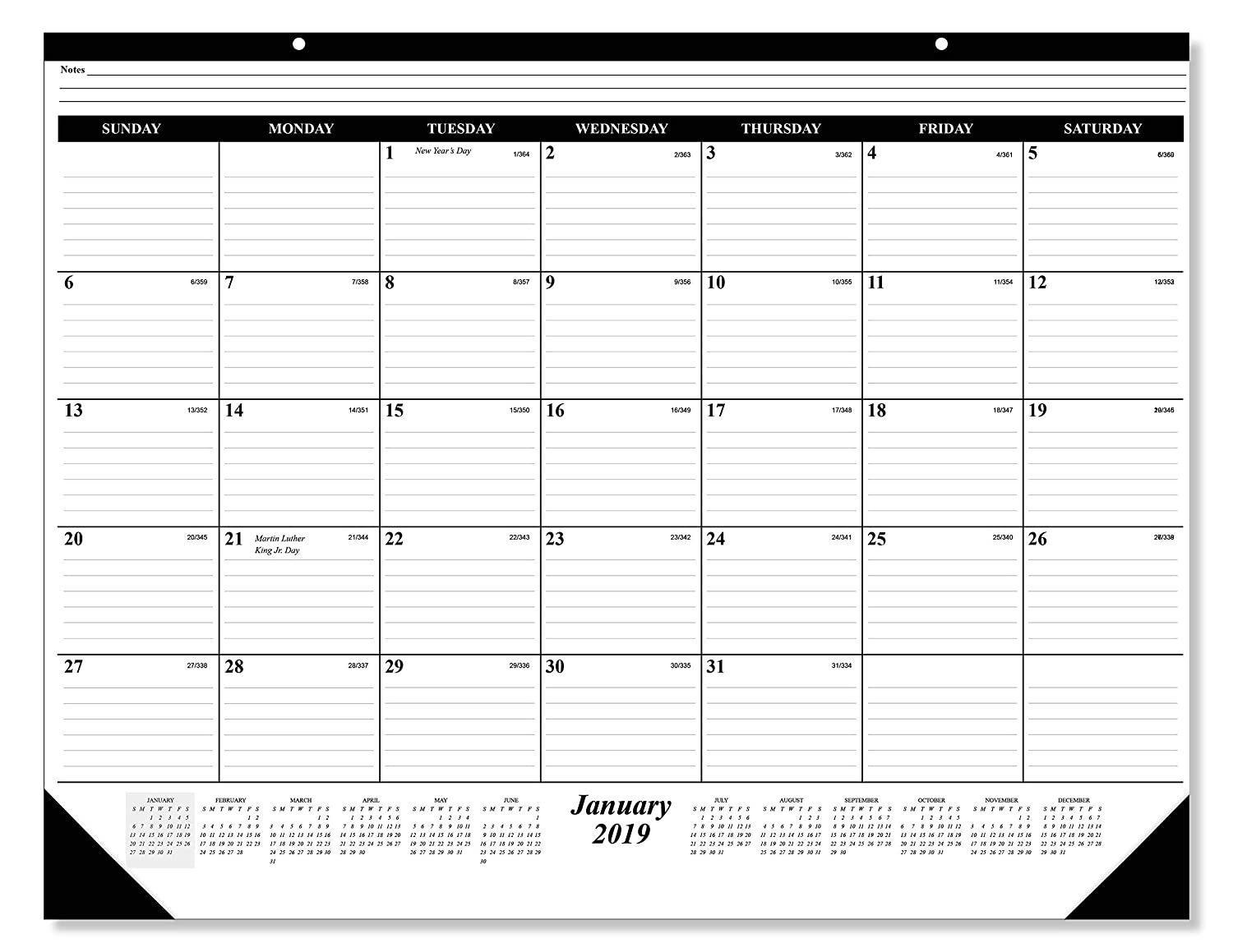 Amazon Com The 1 Academic Desk Pad Calendar 16 Months September