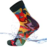 SuMade 100% Waterproof Socks, Men Women Breathable Hiking Kayaking Cycling Golf Crew Socks 1 Pair
