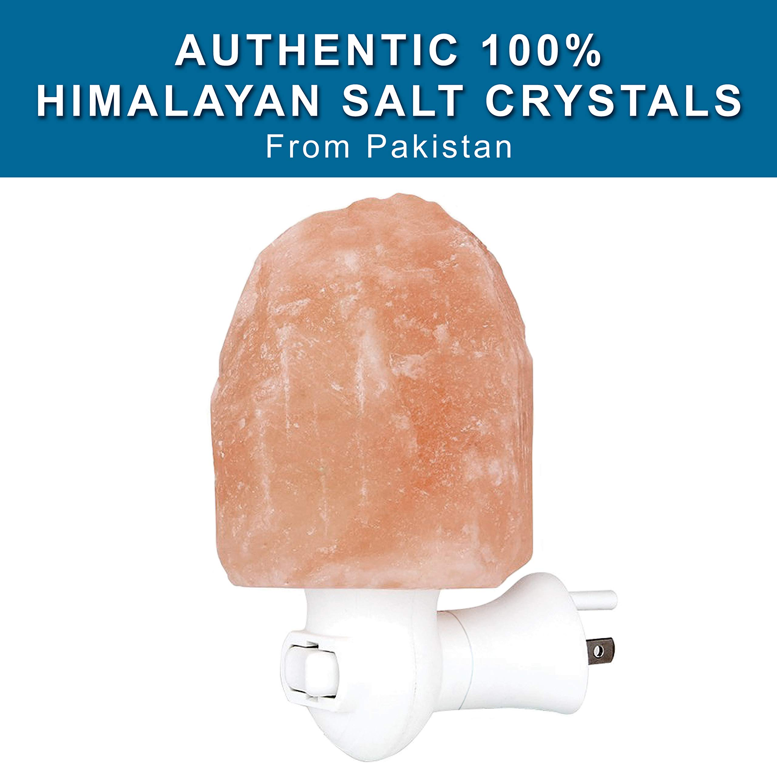 My Perfect Nights Himalayan Rock Salt Lamp Night Light Natural Hand Carved Pure Authentic Pink Salt Crystals from Pakistan use in Bedroom Family Room Hallway Office (2 Pack) by My Perfect Nights (Image #9)