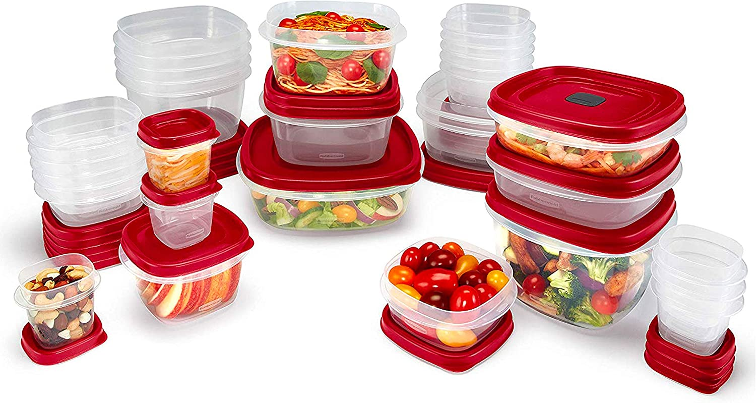 Details about  /Rubbermaid Easy Find Vented Lids BPA Free Plastic Food Storage Containers 60 pcs