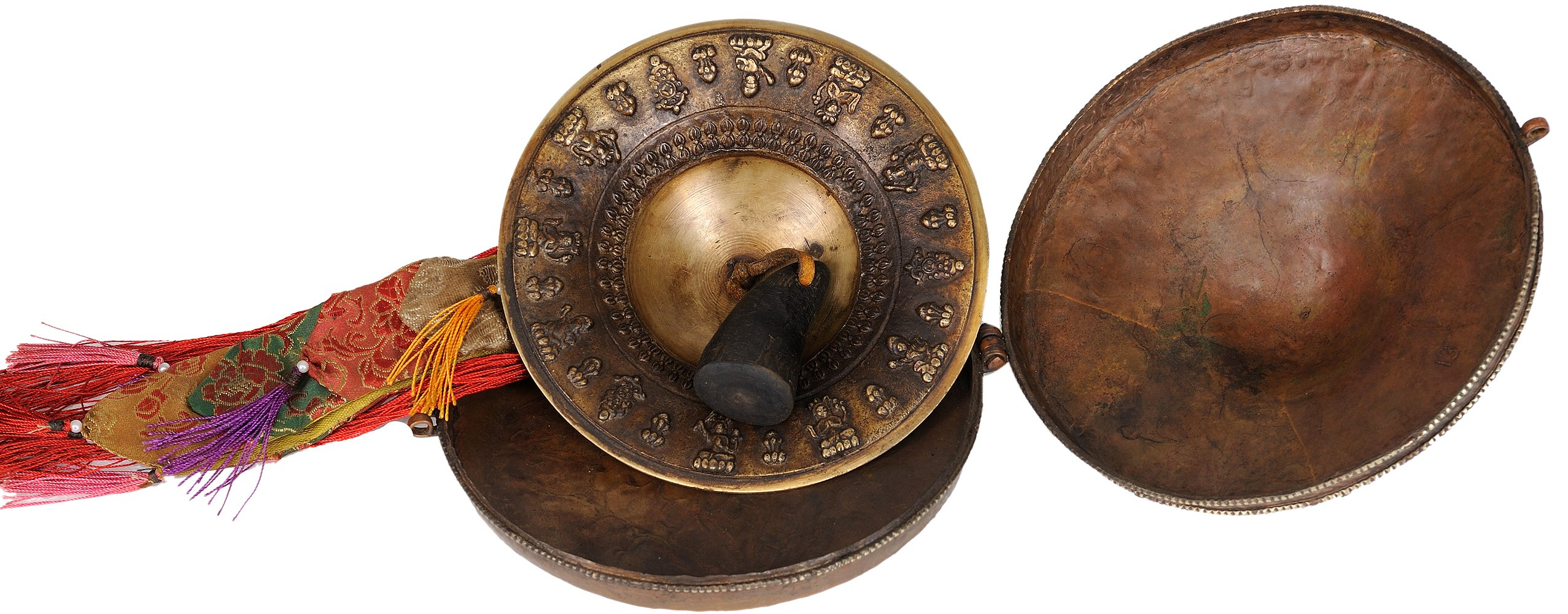 Cymbals with Case - Bronze and Copper Statue