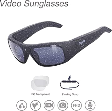 Amazon.com: OHO - Gafas de sol impermeables para vídeo, 128 ...