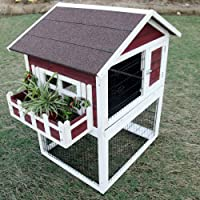 Petsfit 42.5 x 30 x 46 inches Bunny Cages, Rabbit Hutch Outdoor