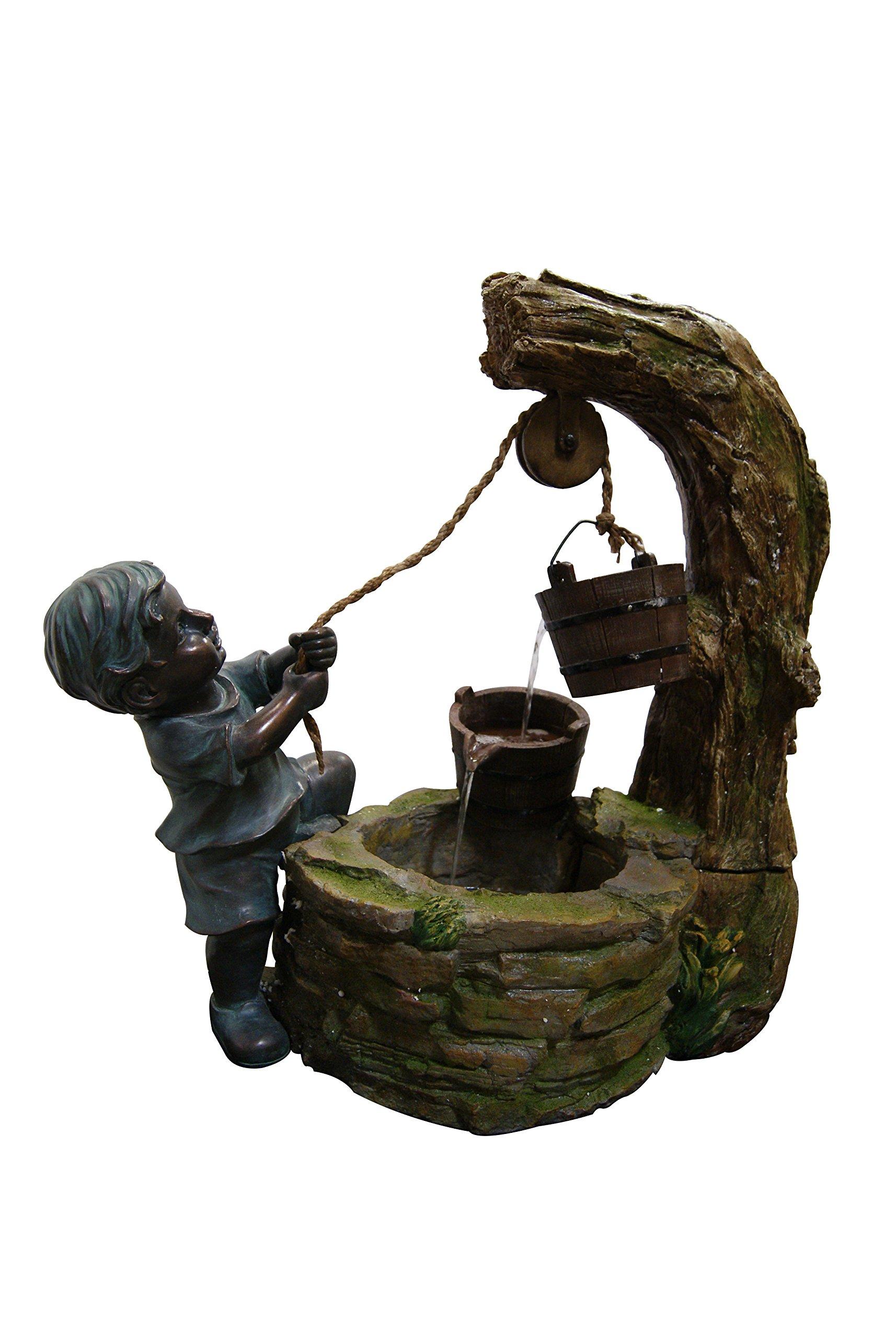 Plutus Brands Polyresin Boy Fetching Water