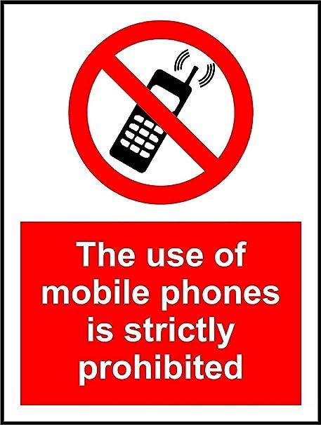 Amazon.com: El uso de teléfonos móviles está estrictamente ...