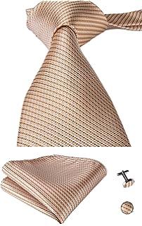 H6041 violet blue paisley gift ideas husband silk necktie cufflinks hanky Y/&G