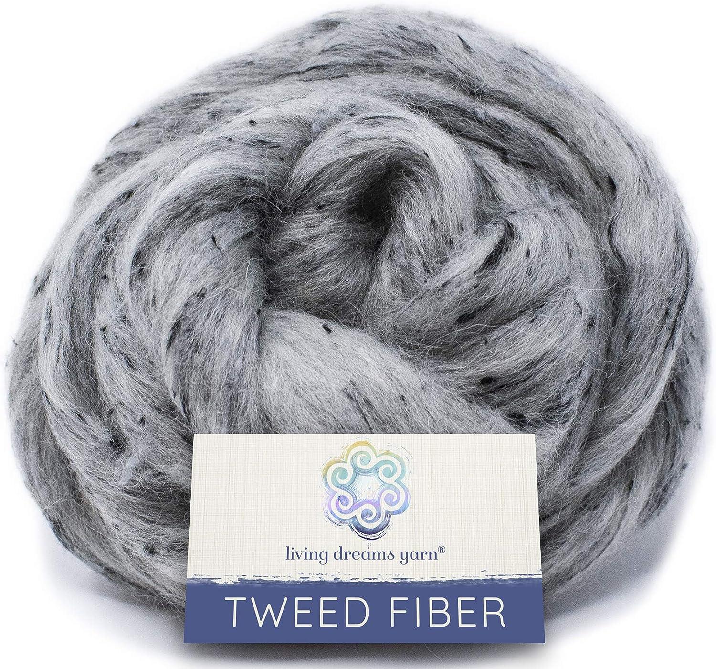 Fibra de efecto tweed para spinning, fieltro, mezcla y teñido ...