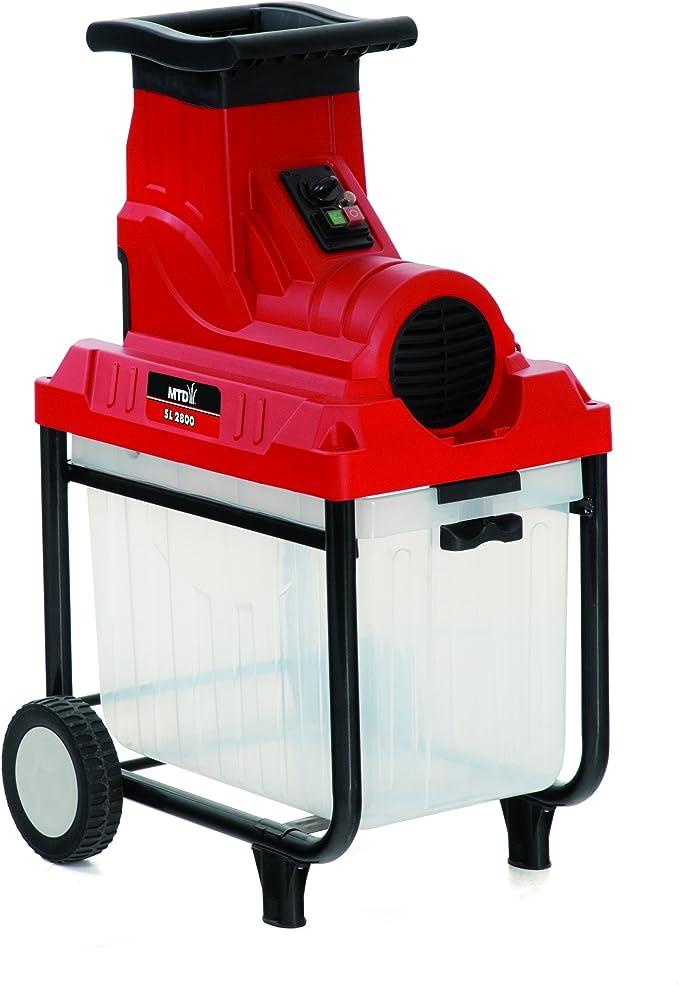 MTD 24AC7G2C600 Biotrituradora Eléctrica, 2500 W, 230 V, Rojo: Amazon.es: Bricolaje y herramientas