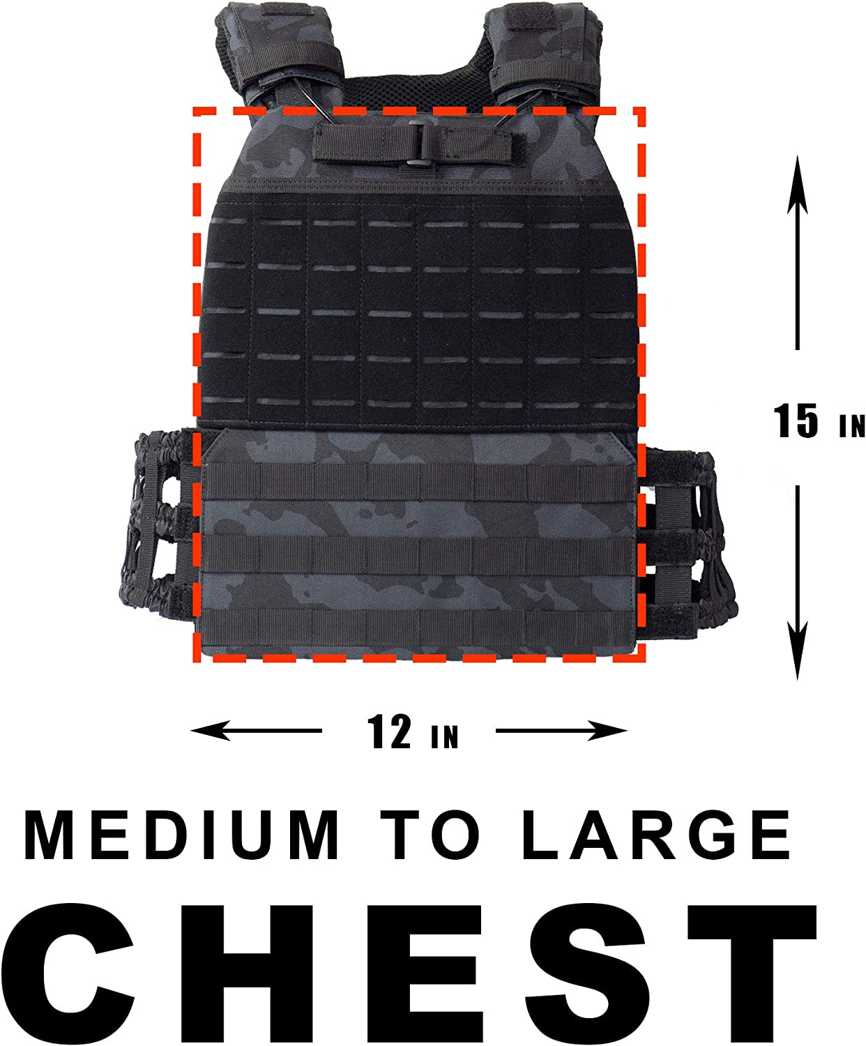 Weight Vest for Running and Workout Crossfit Weight Vest Adjustable Weighted Vest Men and Weighted Vest Women//Endurance /& Strength Training