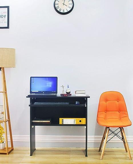 Ebee Engineered Wood Computer Desk  Modular, Finish Color   Wenge Brown