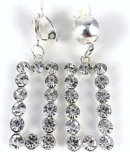 Kazuri Clip-On-Earrings Gray Clip-On Earrings Silver
